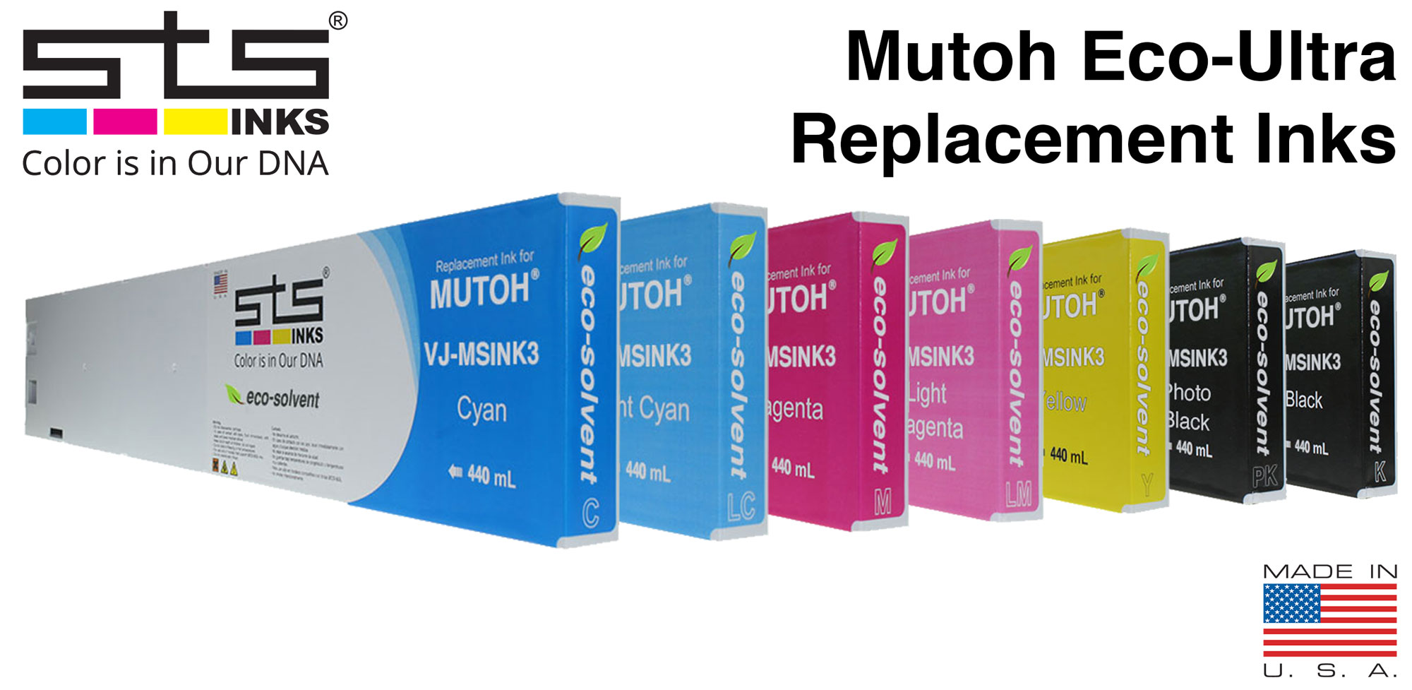 The Possibilities of Large format Printing - Understanding Mutoh Eco Ultra & Canon Lucia Ink - stsinks.com